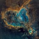 Heart Nebula - SHO Narrowband,                                gmvtex