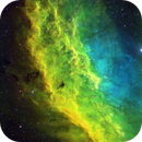 California Nebula, NGC 1499, Hubble Palette Original Color Format, Cooperative Image of Coles and Franke,                                Eric Coles (coles44)