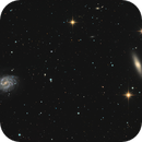 NGC 4535 - NGC 4526 Spiral Galaxies,                                Jerry Macon