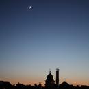 New Moon with earthlight close to Aldebaran, Venus,                                Sharif
