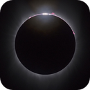 Prominences and Baily Beads - rising Sun through the Moon mountains,                                pieroc