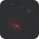 The Bubble Nebula - NGC7635 with M52,                                Nadeem Shah