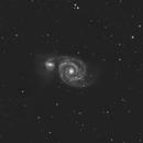 M51 Galaxie du Tourbillon,                                dagar