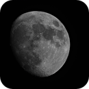 Moon with the refractor and DSLR,                                Kharan