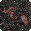 IC1805 and IC1848 - The Heart and Soul Nebulae (RGB),                                Martin Dufour