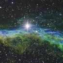 NGC 6960 - unsere erste Hubble-Palette,                                Gottfried Meissner