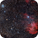 Test of SpaceCat and QHY 183c on the running chicken area and NGC 3766,                                Claudio Tenreiro