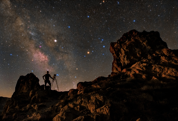 A clear night,                                Amir H. Abolfath