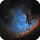 Pacman Nebula - NGC 281 in Hubble Palette (one year on),                                Steve Milne