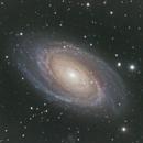 M81 Bode's Galaxy LRGB further Experimentation during Galaxy Season,                                Brandon Tackett