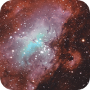 M16 (Sh2-48) and Sh2-49 - The Eagle Nebula in SHO-RGB,                                Uwe Deutermann