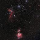 Orions belt and nebula,                                Xplode