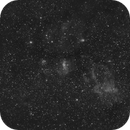 Large Ha dust clouds around M52,                                apricot