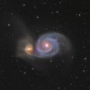 Five inches Telescope to Capture M51,                                Fluorine Zhu