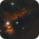 Horsehead and Flame Nebulas IC434,                                Stan Smith