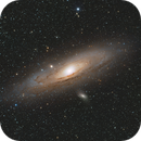 M31 - The Great Andromeda Galaxy: DSLR widefield,                                Arvind H.