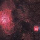 The Lagoon and Trifid nebulae,                                Aleix Roig