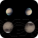 Mars 27 Feb 2020 - 5 min stack with annotated reference globe,                                Seb Lukas