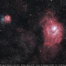 M20 Trifid Nebula + M8 Lagoon Nebula,                                Alexandre Polleti