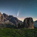 Comet Neowise above di 5 Torri and Tofana,                                Davide De Col