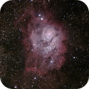 Lagoon Nebula from 5-26-14,                                Mo