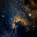 Cave Nebula (Sh2-155) in Ha/SII/OIII,                                Jose Carballada