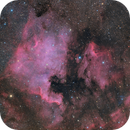 North America & Pelican Nebulae - LRGB,                                Hytham