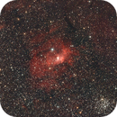 Bubble Nebula and M52,                                Robin Clark - EAA imager