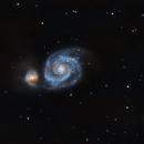 M51 - Galaxia del Remolino (Whirpool Galaxy),                                Alfredo Beltrán