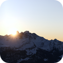 Sunset - 360° Panorama of Bernese Alps (Load, zoom in and have fun!),                                AstroEdy