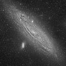 M31 L channel in the SkyRus 493m camera test,                                Vadim Kozatchenko