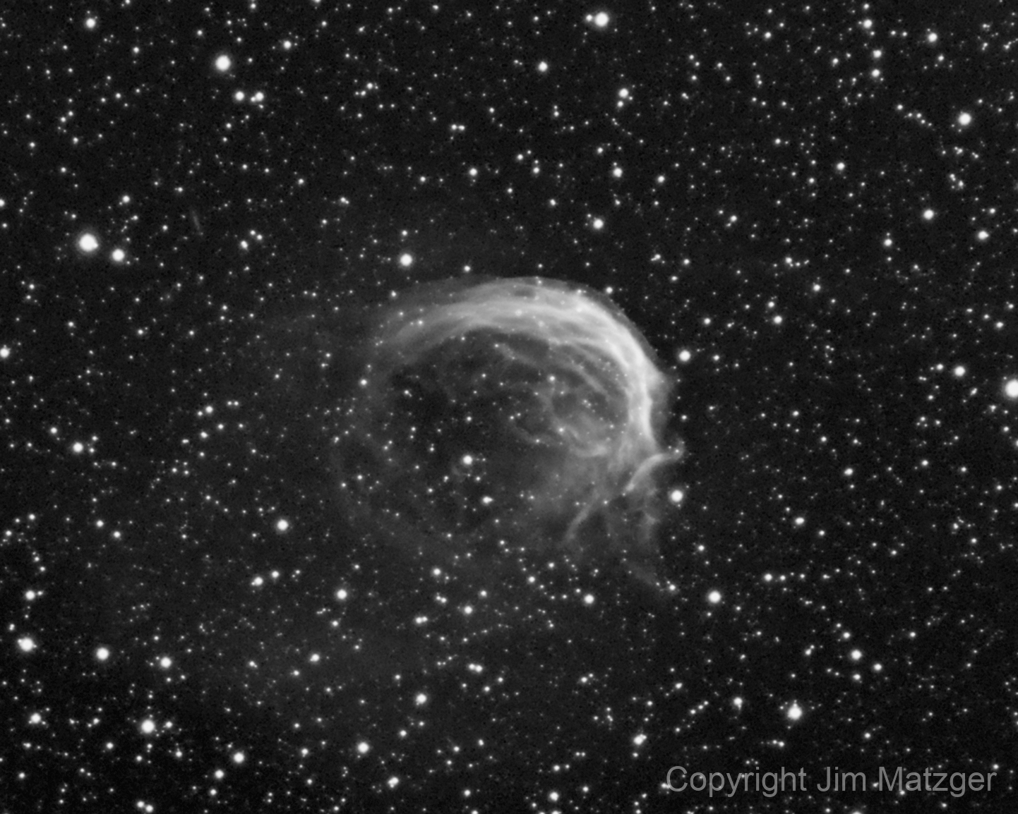 Dolphin Nebula - SH2-188 (HA +NII),                                  Jim Matzger