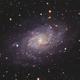 M33 The Triangulum Galaxy in HaLRGB,                                Eshan Toorabally