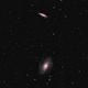 M81&82 LRGB 2 pane mosaic,                                Steve Ibbotson