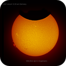 Partial Solar Eclipse June 10th. 2021 in Calzium and H-Alpha Band,                                Thomas Klemmer