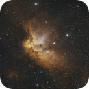 "NGC 7380 (""Wizard Nebula"") Medium Field - HOO,                                mikefulb"