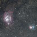 Lagoon and Trifid nebulas,                                Brendan Studds