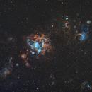 NGC 1763 in the LMC (Hubble Palette),                                Uri Abraham