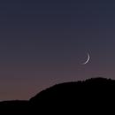 Very thin moon,                                Bert Scheuneman