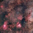 Part of the MilkyWay - Eagle Nebula, Omega Nebula, large Sagittarius cloud,                                Mehmet Ergün