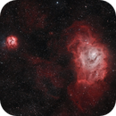 Lagoon and Trifid Nebulae,                                Mike Brady