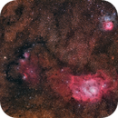 Wide Field M8 & M20 in LRGB,                                Alberto Pisabarro