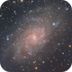 M33 Galaxy in Triangulum,                                Carastro