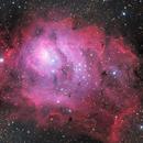 M8 Lagoon Nebula in LRGB,                                Tony King