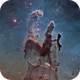 "The Pillars of Creation with 24"",                                KuriousGeorge"