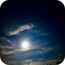 Ursa Major and Moon in a cloudy night,                                Param Sharma