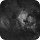 Test of 3D-printed EF adapter - NGC7000 using Canon 100mm macro,                                mikefulb