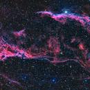 Western Veil Nebula in HaRGB,                                Don Curry