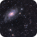 NGC 2403 and a small companion galaxy - LHaRGB color blind challenge!,                                Rodolphe Goldsztejn