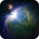 Orion nebula M42 narrowband,                                Hornisse